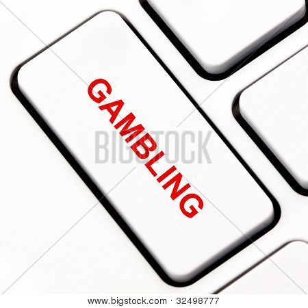 Gambling keyboard key