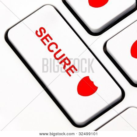 Secure keyboard key