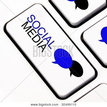 Social media keyboard key