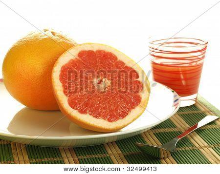 Grapefruit, Isolated
