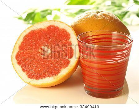 Pink Grapefruit With Juice