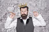 Crown Award. Barber Shop Concept. Bearded Hipster Shaving. Vintage Barber. Barber Tools. Barber Hold poster