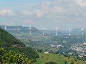 New Viaduct At Millau In France