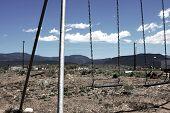 image of swingset  - Swingset in the middle of nowhere aka Utah - JPG