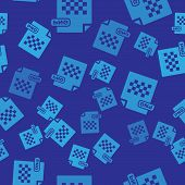 Blue Png File Document. Download Png Button Icon Isolated Seamless Pattern On Blue Background. Png F poster
