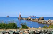 stock photo of sakhalin  - Seaport on Sakhalin - JPG