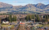 Hanmer Township In The Mountains Of Canterbury, New Zealand