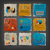 stock photo of bubble sheet  - Collection of website elements - JPG