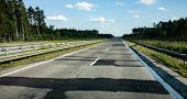 Extremely Bad Highway A18 (e36) In Poland Called Droga Hanby (road Of Shame) From Cottbus To Wroclaw poster
