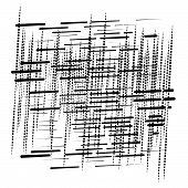 Grid, Mesh Abstract Geometric Pattern. Segmented Intersect Lines. Crossing Dynamic Stripes Texture. poster