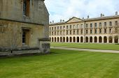 stock photo of magdalene  - Oxford Magdalen College courtyard and facade - JPG