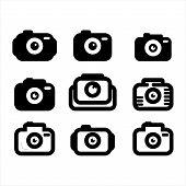 Camera Icons And Vectors, Unique And Modern Camera Photos, Conceptual Design Icon Vector Camera Phot poster
