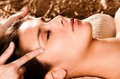 foto of pressure point  - acupressure face massage - JPG
