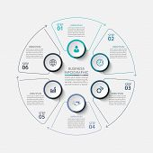 Business Circle. Timeline Infographic Icons Designed For Abstract Background Template Milestone Elem poster