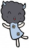 picture of thunderhead  - cute thunderhead cloud cartoon character - JPG