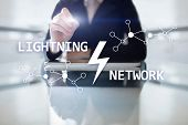 Lightning Network - Second Layer Payment Protocol That Operates On Top Of A Blockchain. Bitcoin, Int poster
