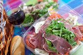 pic of nic  - Delicious salad with Parma ham arugula and mozzarella cheese - JPG