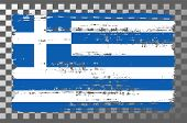 Greek National Flag Isolated Vector Illustration. Travel Map Design Graphic Element. Europe County S poster