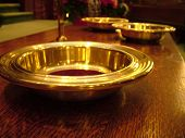 foto of tithe  - the offering plate at the front of a church - JPG