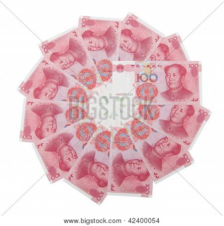 Rmb 100 Stack In Circle