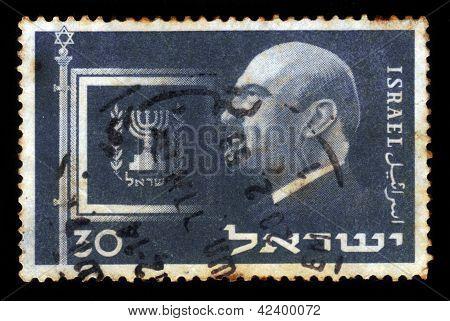 First President Of Israel Dr. Chaim Weizmann