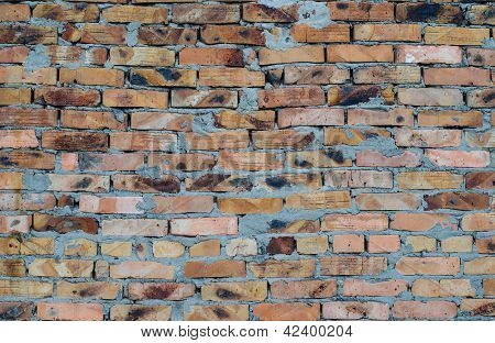 Aged Brick Wall Background