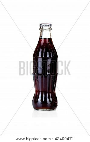 Bottle Of Cola On White