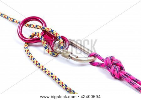 Climbing Equipment - Rope, Carabiner, Figure Eight