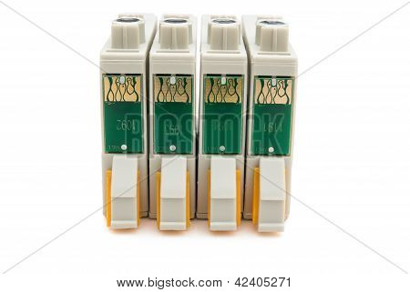 Brand New Printer Ink Cartridges With Clipping Path