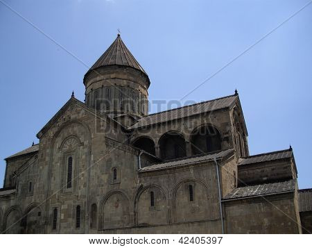 Georgia - Mcxeta - Sveticxoveli Castle-cathedral, One Of The Symbols Of Georgia