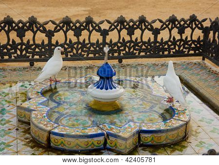 Plaza de America of Sevilla, Spain