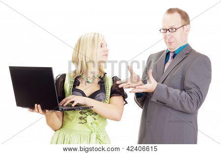 Pessoas de negócios no local de trabalho
