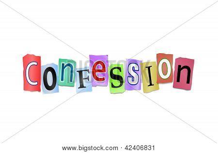Concepto de la confesión.