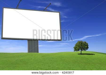 Giant White Blank Billboard