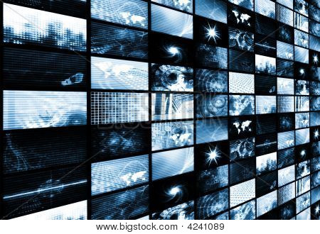 Futuristic Media Abstract Background