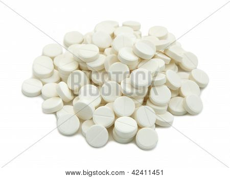 Medical Tablets Close Up.