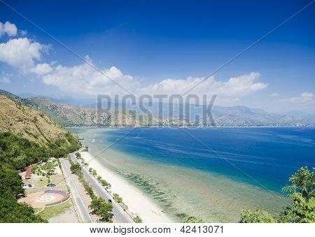 Cristo Rei Beach Near Dili East Timor