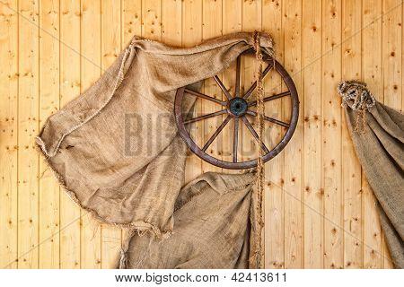 Cartwheel and potato sacks