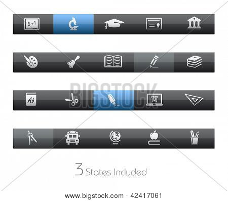 School & Education // Blackbar Series + It includes 3 buttons states in different layers. +
