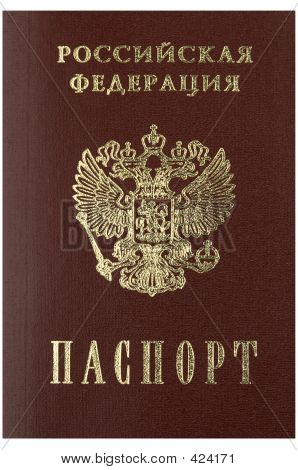 Russian Passport In Close Up