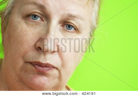 Woman In Close Up