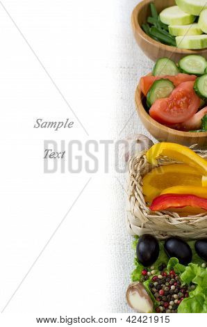 Page Menu-vegetables, Salads