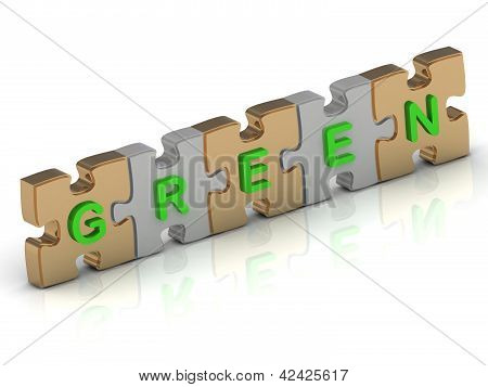 Green Word Of Gold Puzzle