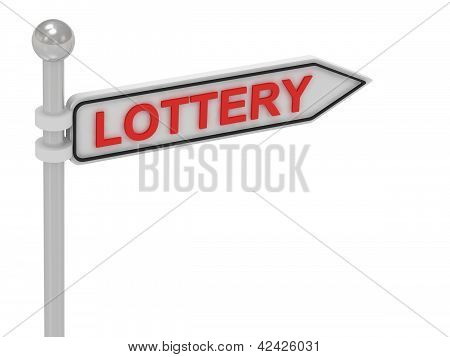 Lottery Arrow Sign With Letters