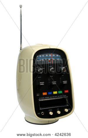 Retro Portable 8 Track Tape Player & Radio