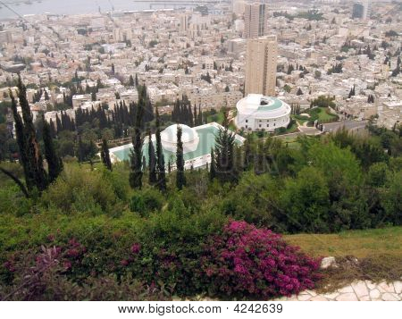Aerial View Of Haifa City, Israel.