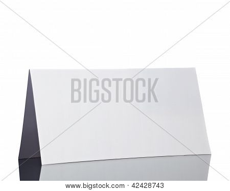 Folded Card Note Leaflet