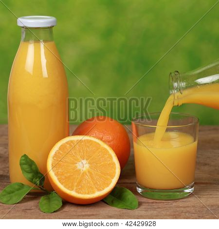 Oranges And Fresh Juice
