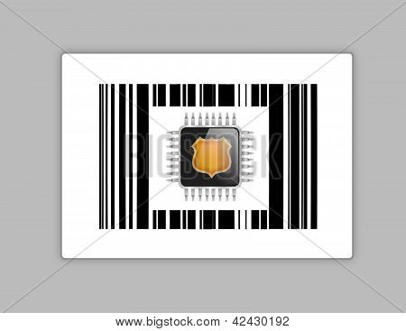 Technology Chip Upc Or Barcode