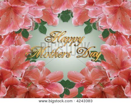Mothers Day Card Azaleas